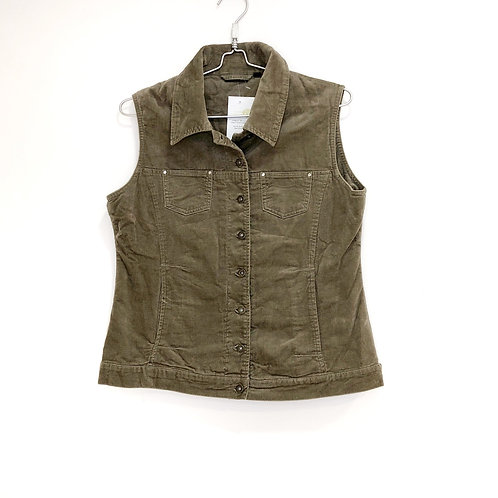 Taupe Suede Feel Material Vest