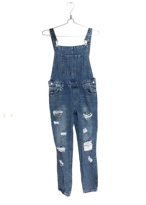 Overall Dark Blue Jeans