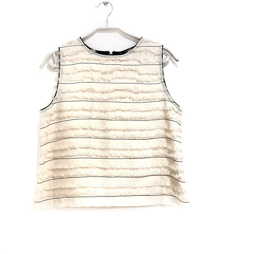 Zara Sleeves Shirt with Fringes in the Front Size M