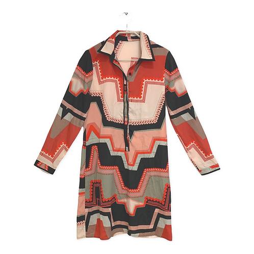 Multi Color Long Sleeve Dress Size 42