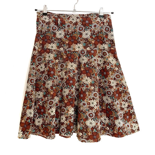 Little D Corduroy Skirt Floral Size M