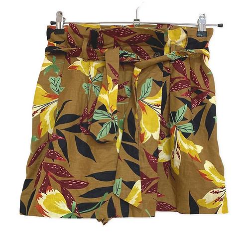 Zara Floral Wrap Front Shorts Size S