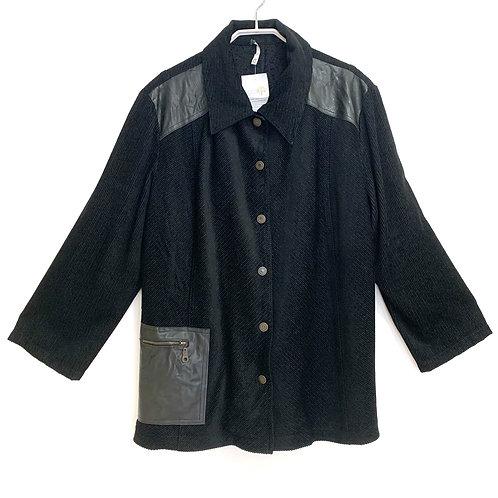 Black Corduroy Woman's  Jacket Size L