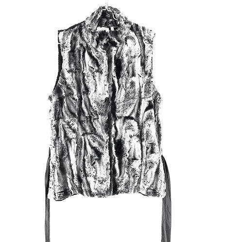 Canda Fur Look Vest Size M