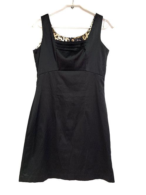 Edith & Ella Lined Black Satin Dress Size S
