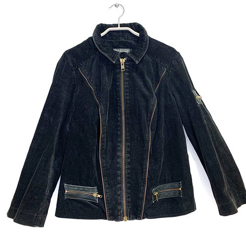 Raziela Fashion Corduroy Jacket Black
