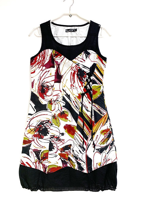 ACB Lined Multi Color Sleeveless Dress Size 38