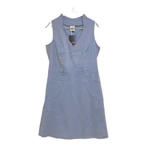 Assaf Peleg V-Neck Dress with Front Pockets Dress Size 44