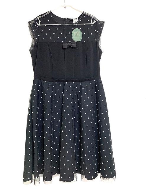 Naama Bezalel New Black Polka Dots Evening Dress Size 44