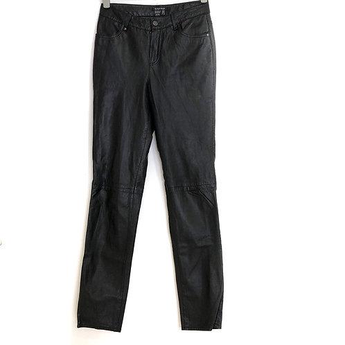 Castro Woman's Leather Trousers Black Size 36 #164