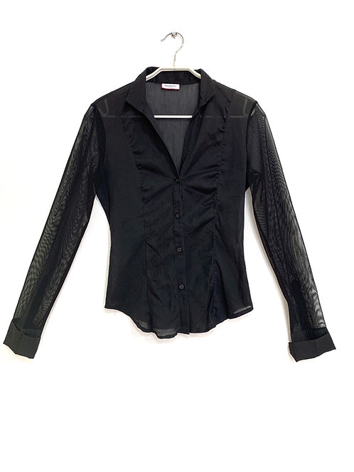 Max & Co. Black Button Down Shirt Size 36