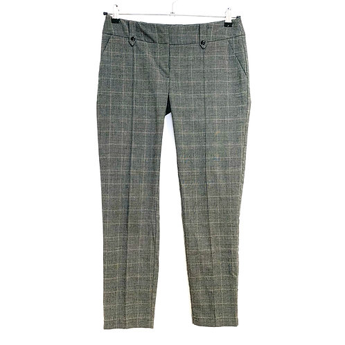 Miss Selfridges Checked Trousers Grey Size 10
