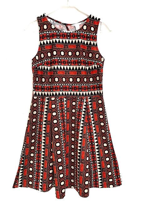 H & M Geometric Pattern Sleeveless Dress Size M