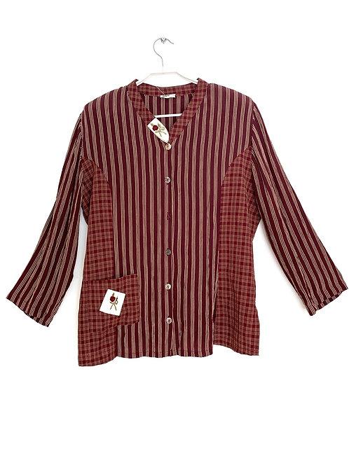 Vintage Cleo Women's Long Sleeve Shirt Size L