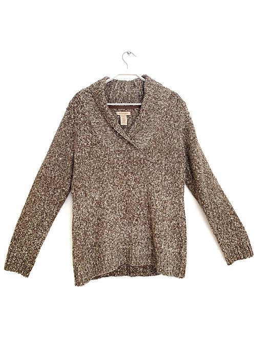 Covington Sweater Shawl Collar Brown Size L