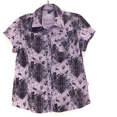 Cecil Woman's Purple Short Sleeve shirt Size M #128