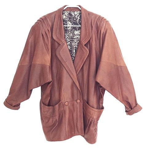 Vintage Napa Leather Jacket with Silk Lining Jacket Size L/XL