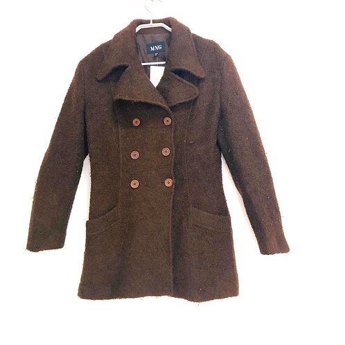 MNG Double Breasted 3/4 Length Coat Size L