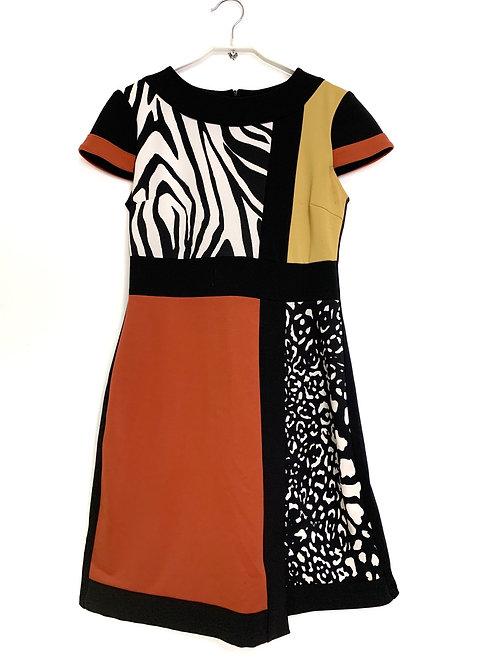 Rinascimento Retro Dress Multi Color Size M