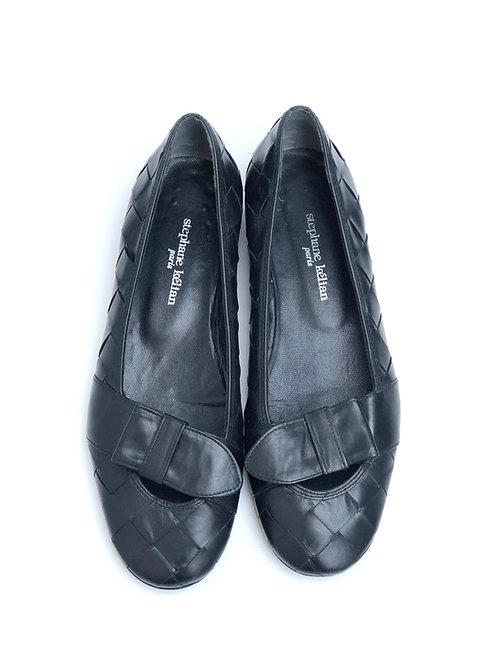 Flat Woven Black Shoes