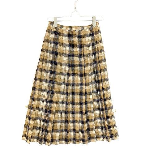 Vintage Tweed Pleated Skirt Size S/M #194