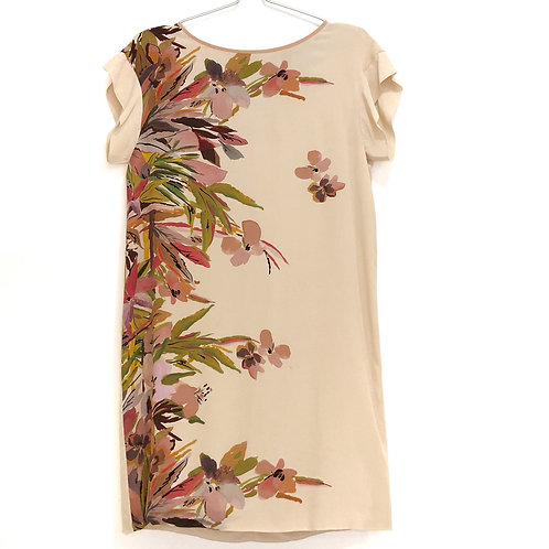 Silk short sleeve floral dress