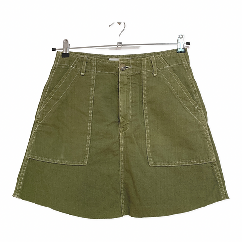 Zara Green Denin Skirt Size M