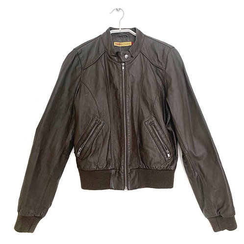 Tag Woman Leather Jacket Brown Size 3
