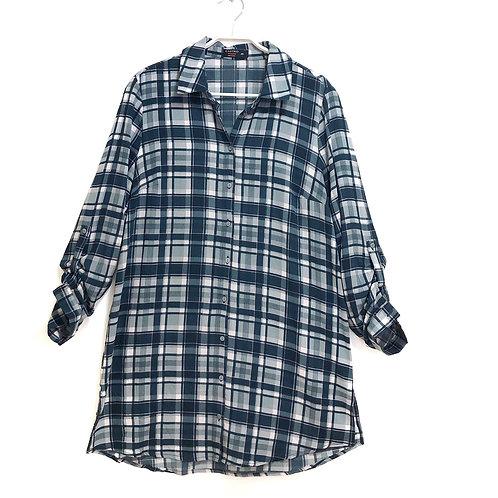 Castro Check Dress Shirt Size 40