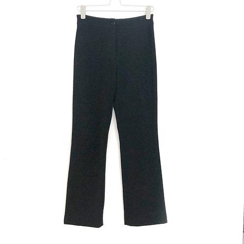 Vintage High Waist Black Woman's Trousers Size S #160