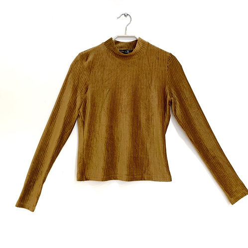 Twentyfourseven  Velour Long Sleeve Top Size XS
