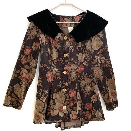Evarse Velour Shawl Collar Jacket Size 40