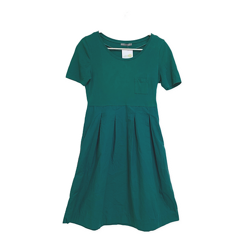 Cos Green Pleated Dress with Pockets Size  S