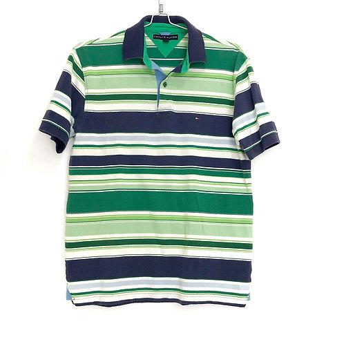 Tommy Hilfiger Men's Stripe Polo Shirt Size M #1128
