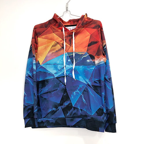 Abstract Sweatshirt with Capouchon Size S/M #1115