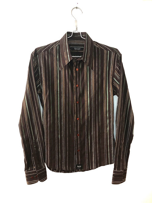 Men's Long Sleeve Shirt Brown