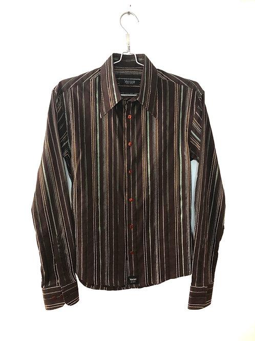 Men's Long Sleeve Shirt Brown