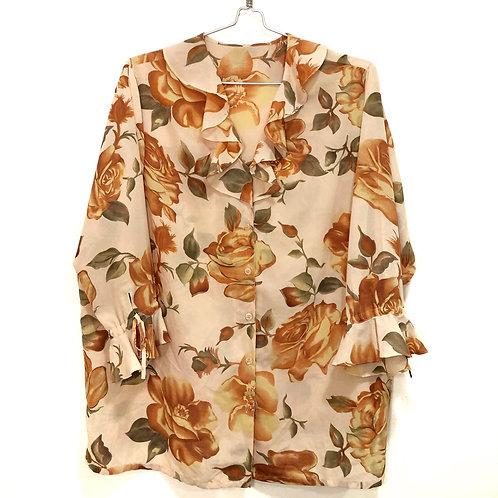 Flora; ruffle long sleeve shirt