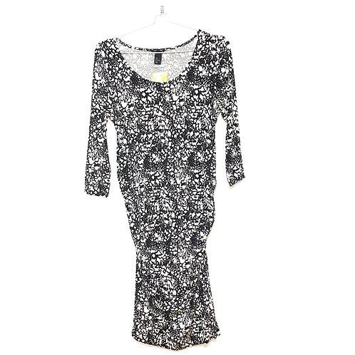 H & M Mama Black and White Dress Size M