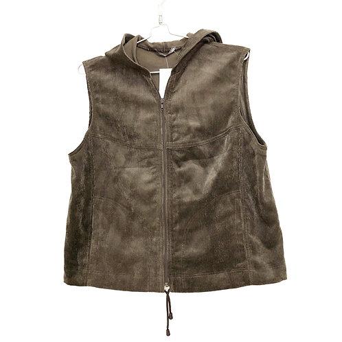Brown Corduroy Vest  with Capouchon