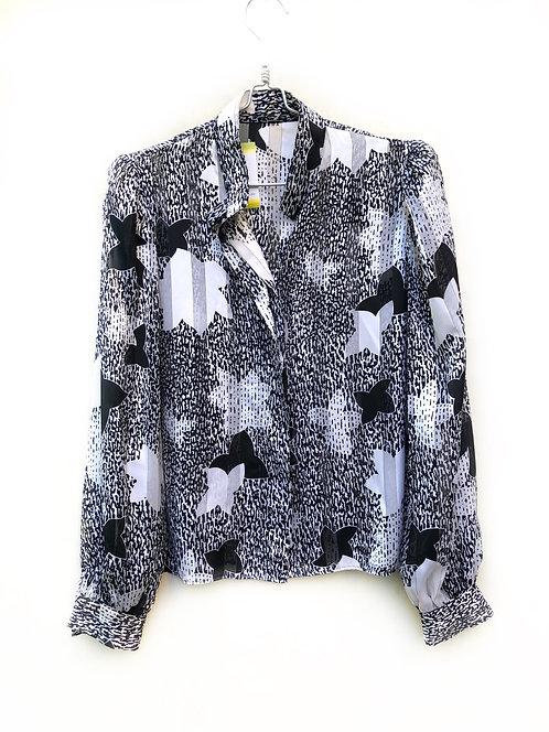 Marks & Spencer Black and White Shirt Size 42  #190