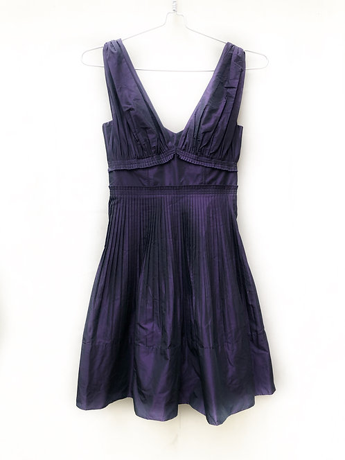 BCBG Dark Purple Satin Party Dress Size 0