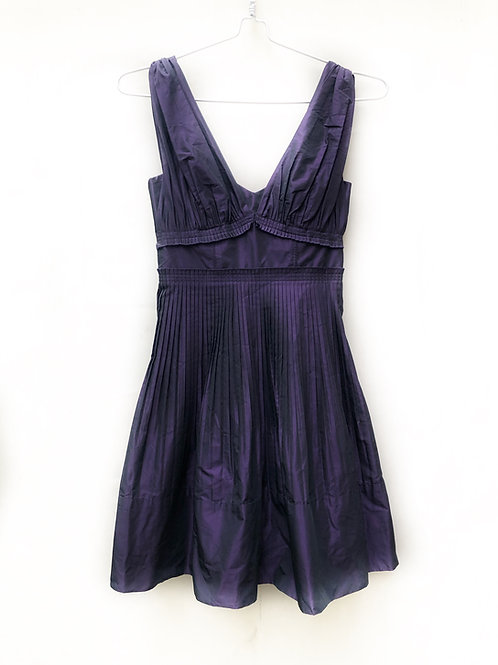 BCBG Dark Purple Satin Party Dress Size 0 #135
