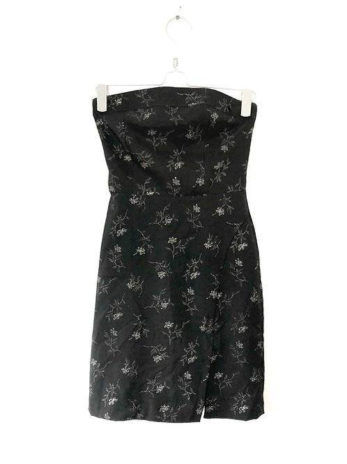 Strapless Dress  Dark Grey