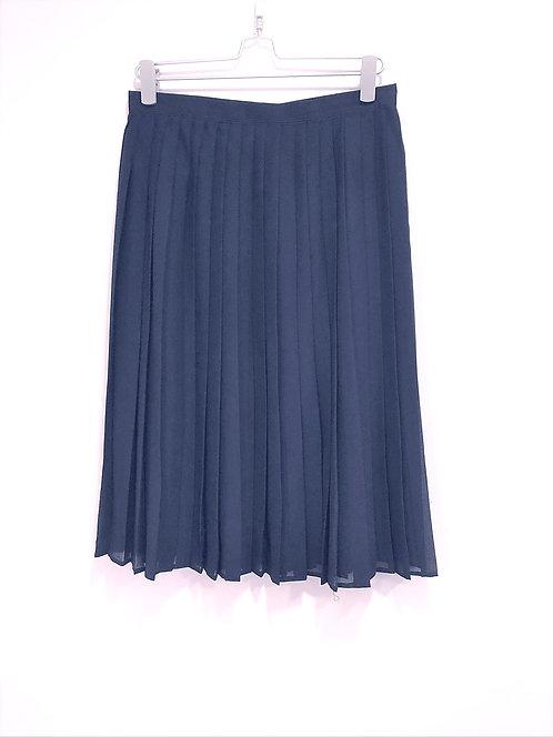 Pleated Skirt Dark Navy Color