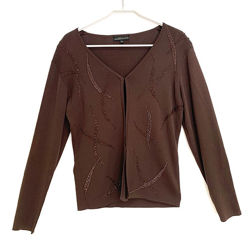 Animale Cardiganwith Sequences Brown Size M/L