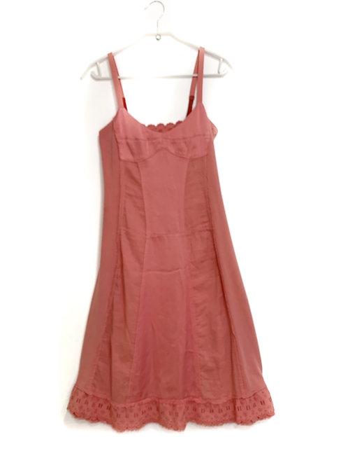 Max & Co. Sleeveless Pink Dress with Lace Size 40