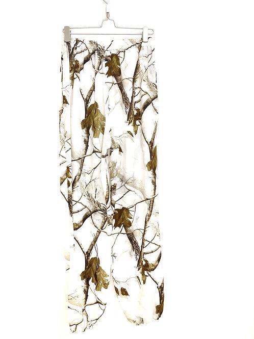 Haren Style Woman's Pants White Floral Size XL #127