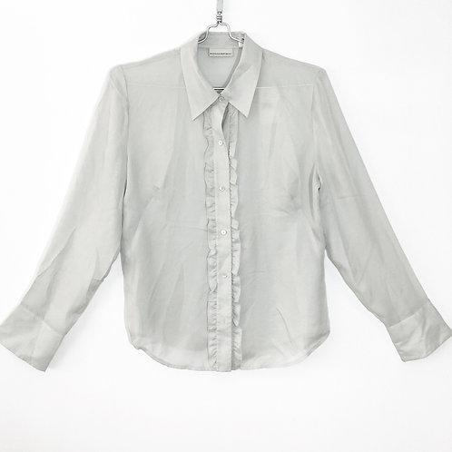 Banana Republic Silk Women's Shirt with Raffles Size L #201