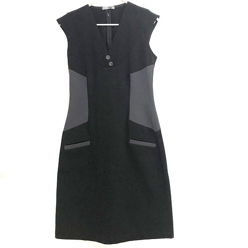 Irit Noy  Black and Grey Sheath Dress